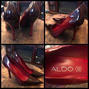 Aldo Maroon red, 2 tone heels. 👠 Beautiful catch